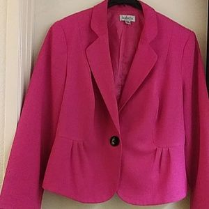 Hot Pink Women Suit jacket